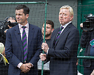 BORIS BECKER und Tim Henman, TV Kommentator auf dem Centre Court<br /> <br /> Tennis - Wimbledon 2016 - Grand Slam ITF / ATP / WTA -  AELTC - London -  - Great Britain  - 16 July 2017.