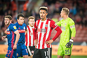 Lynden Gooch of Sunderland FC looks on during the EFL Cup match between Sheffield United and Sunderland at Bramall Lane, Sheffield, England on 25 September 2019.