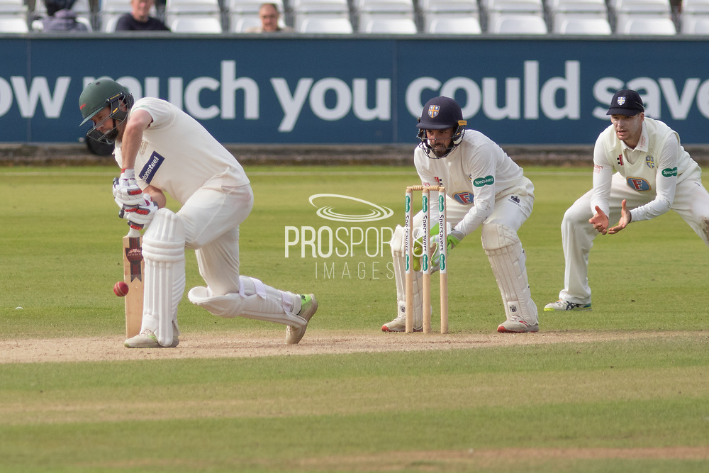 Paul Horton batting during the Specsavers County Champ Div 2 match between Durham County Cricket Club and Leicestershire County Cricket Club at the Emirates Durham ICG Ground, Chester-le-Street, United Kingdom on 20 August 2019.