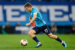 November 23, 2017 - Saint Petersburg, Russia - Oleg Shatov of FC Zenit Saint Petersburg in action during the UEFA Europa League Group L match between FC Zenit St. Petersburg and FK Vardar at Saint Petersburg Stadium on November 23, 2017 in Saint Petersburg, Russia. (Credit Image: © Mike Kireev/NurPhoto via ZUMA Press)