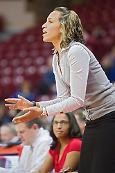 03 January 2014:  Assistant Coach Erin Dickerson during an NCAA women's basketball game between the Drake Bulldogs and the Illinois Sate Redbirds at Redbird Arena in Normal IL