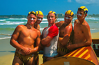 Lifeguards, Surf Boat Race, Surf Life Saving Carnival, Wonda Beach, near Sydney, New South Wales, Australia
