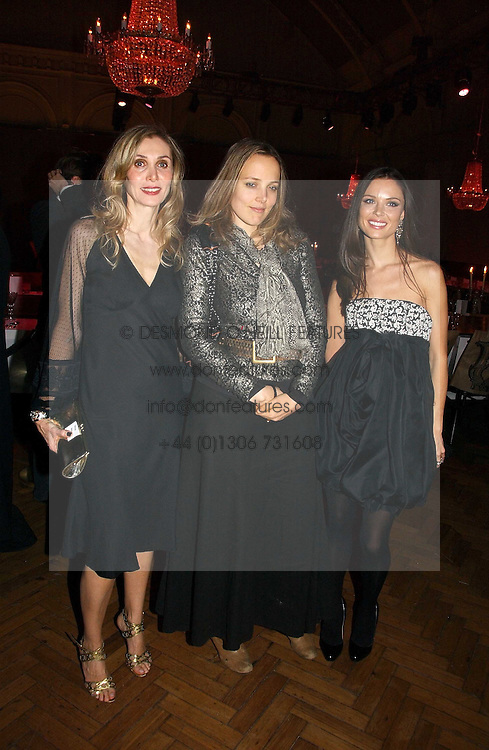 Left to right, ALLEGRA HICKS, BAY GARNETT and GEORGINA CHAPMAN at the 6th annual Lancome Colour Design Awards in association with CLIC Sargent Cancer Care held at Lindley Hall, Victoria, London on 28th November 2006.<br /><br />NON EXCLUSIVE - WORLD RIGHTS