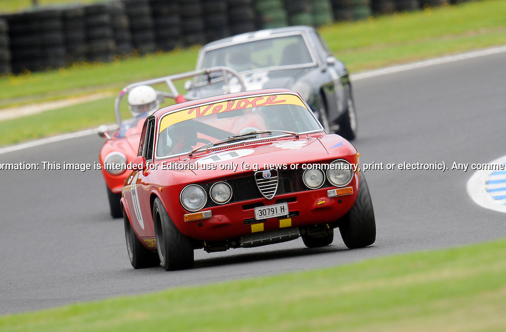 Colin Wilson-Brown - Alfa Romeo 1750 GTV.Historic Motorsport Racing - Phillip Island Classic.18th March 2011.Phillip Island Racetrack, Phillip Island, Victoria.(C) Joel Strickland Photographics.Use information: This image is intended for Editorial use only (e.g. news or commentary, print or electronic). Any commercial or promotional use requires additional clearance.