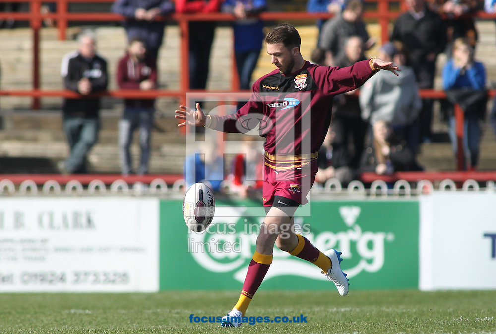Ryan Brierley of Huddersfield Giants during the First Utility Super League match at Belle Vue, Wakefield<br /> Picture by Stephen Gaunt/Focus Images Ltd +447904 833202<br /> 25/03/2016