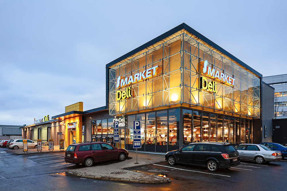 S-market and ABC Deli in Espoo, Finland designed by Soini & Horto architects