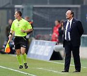 Udine, 19 aprile 2014.<br /> Serie A 2013/2014. 33^ giornata.<br /> Stadio Friuli<br /> Udinese vs Napoli.<br /> Nella foto: Rafael Benitez, allenatore Napoli.<br /> © foto di Simone Ferraro