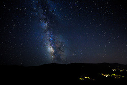 The Milky Way Galaxy as seen on a clear summer night atop the summit of Owl Creek Ranch.