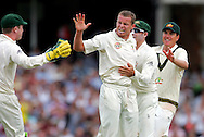 © SPORTZPICS /Seconds Left Images 2009   - Peter Siddle (no cap) celebrates the wicket of  Paul Collingwood caught   Michael Hussey out for 24 runs -  England v Australia - The Ashes 2009 - 5th npower Test  Match - Day 1 - 20/08/09 - The Brit Oval - London -  UK - All Rights Reserved