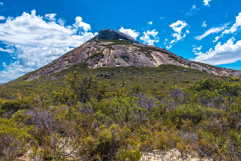 A mountain peak known as Frenchman's Cap in Esperance, Australia.