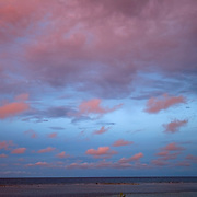 Clouds above South Water Caye at sunset, Belize