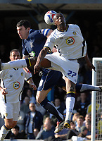 Photo: Ashley Pickering.<br />Southend United v Leeds United. Coca Cola Championship. 17/03/2007.<br />Tresor Kandol of Leeds (L) and Kevin Maher of Southend challenge for the ball
