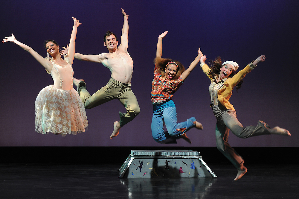 Student dancers perform on statge in the fall of 2012.