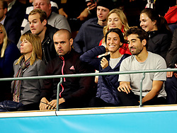 Fernando Verdasco plays in the Intrum Stockholm Open 2017 at The Royal Tennis Club of Stockholm, while girlfriend Ana Boyer watches on. 21 Oct 2017 Pictured: Ana Boyer. Photo credit: MEGA TheMegaAgency.com +1 888 505 6342