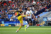 Oxford's Charlie Raglan just manages to clearas Bolton's Keshi Anderson goes through on goal during the EFL Sky Bet League 1 match between Bolton Wanderers and Oxford United at the Macron Stadium, Bolton, England on 1 October 2016. Photo by Craig Galloway.