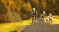 Bicyclers along Seward Highway near Bird Point