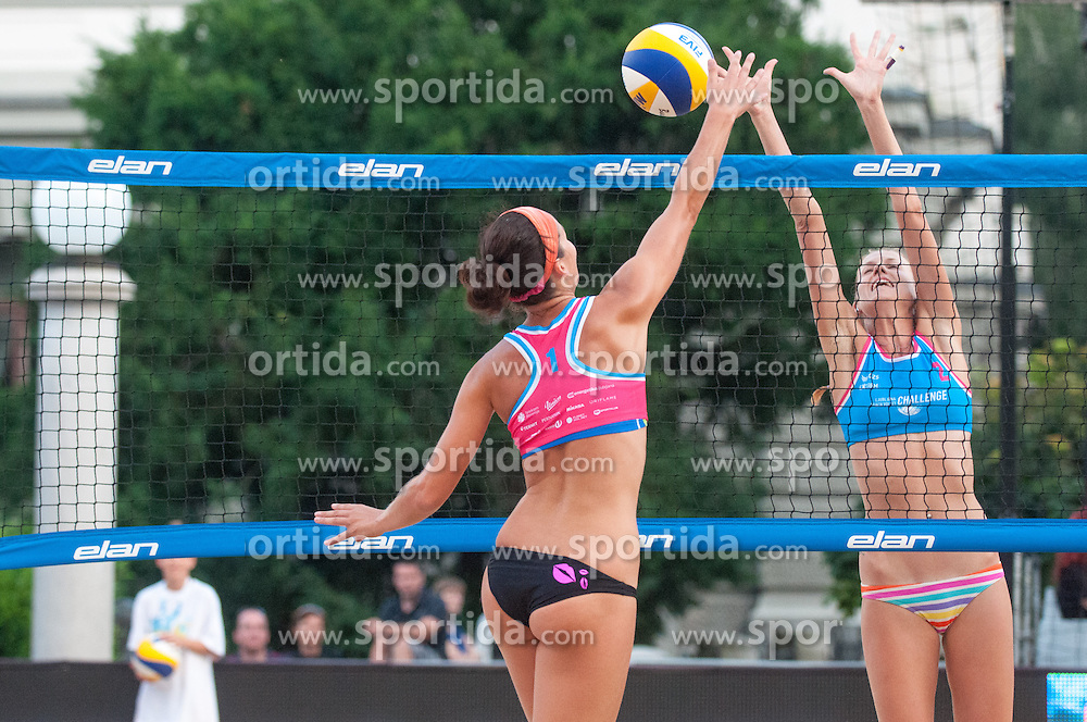 Ana Skarlovnik vs Tereza Jarosova at Beach Volleyball Challenge Ljubljana 2014, on August 2, 2014 in Kongresni trg, Ljubljana, Slovenia. Photo by Matic Klansek Velej / Sportida.com