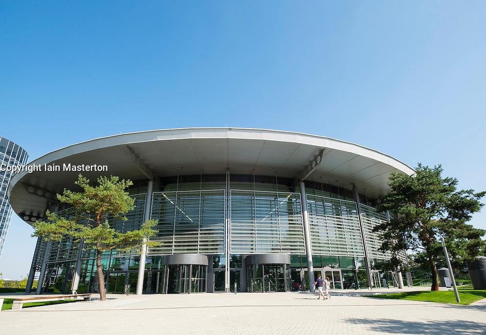 Exterior view of Volkswagen customer centre at Autostadt in Wolfsburg , Germany