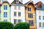 Traditional medieval timber-frame architecture at Troyes in the Champagne-Ardenne region of France
