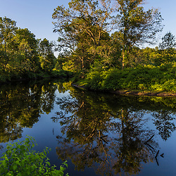 Early morning on the Taunton River at a Wildlands Trust preserve in Raynham, Massachusetts.