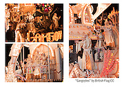 """A selection of three photographs of """"Gargoyles"""", the entry in the 2010 Somerset Carnival circuit by British Flag Carnival Club. Grouped together for printing. Can be printed with or without a caption on either A4 or A3 heavweight fine art paper. Please indicate on your order whether or not you would like a caption."""