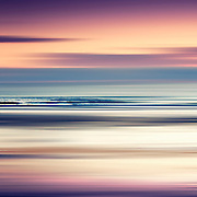 Abstract seascape at sunset - Atlantic Ocean/France