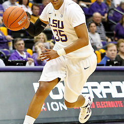 November 16, 2011; Baton Rouge, LA; LSU Tigers forward Taylor Turnbow (35) against the Georgetown Hoyas during the first half of a game at the Pete Maravich Assembly Center.  Mandatory Credit: Derick E. Hingle-US PRESSWIRE