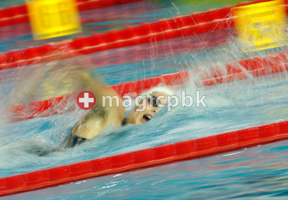 Laure MANAUDOU of France on her way winning the gold medal and setting a new world record in the final of the women's 400m Freestyle during the European Swimming Short Course Championships on December 10, 2005, in Trieste, Italy. (Photo by Patrick B. Kraemer/MAGICPBK)