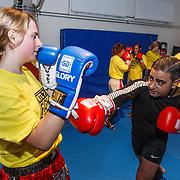 NLD/Amsterdam\/20131025 -Kickboxclinic van Sem Schilt, Danny Ghosen