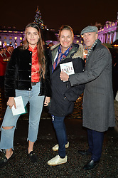 DYLAN JONES, his wife SARAH and daughter GEORGINA at Skate At Somerset House with Fortnum & Mason on 16th November 2016.DYLAN JONES, his wife SARAH WALTER and daughter GEORGINA at Skate At Somerset House with Fortnum & Mason on 16th November 2016.