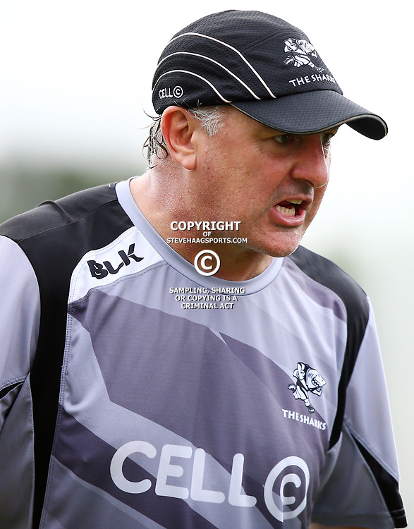 DURBAN, SOUTH AFRICA - MARCH 24: Gary Gold (Sharks Director of Rugby) during the Cell C Sharks training session at Growthpoint Kings Park on March 24, 2015 in Durban, South Africa. (Photo by Steve Haag/Gallo Images)