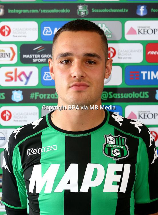 Italian League Serie A -2016-2017 / <br /> ( US Sassuolo Calcio ) - <br /> Pol Mikel Lirola Kosok &quot; Pol Lirola &quot;