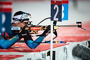 &Ouml;STERSUND, SVERIGE - 2017-12-02: Simon Desthieux under herrarnas sprint t&auml;vling under IBU World Cup Skidskytte p&aring; &Ouml;stersunds Skidstadion den 2 december 2017 i &Ouml;stersund, Sverige.<br /> Foto: Johan Axelsson/Ombrello<br /> ***BETALBILD***