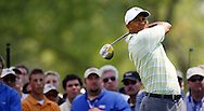 Tiger Woods of the US hits his tee shot on the fourth hole during the first day of the US Open Golf Championship at Winged Foot Golf Club in Mamaroneck, New York Thursday, 15 June 2006.