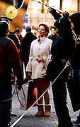 Laura Herring appears on the set as Gossip Girls tapes in Lincoln Center in New York City on December 1, 2009.