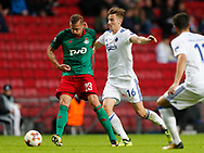 FOOTBALL: Dmitri Tarasov (Lokomotiv Moskva) and Ján Greguš (FC København) during the UEFA Europa League Group F match between FC København and FC Lokomotiv Moskva at Parken Stadium, Copenhagen, Denmark on September 14, 2017. Photo: Claus Birch