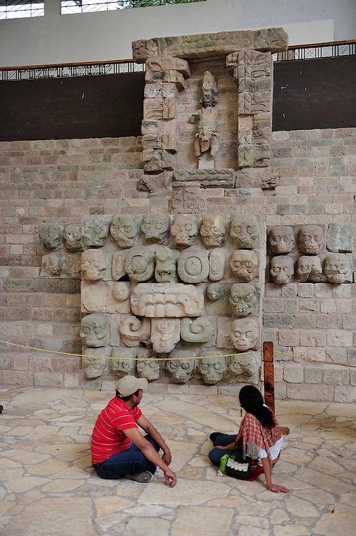 UNESCO World Heritage Site,Museo,Parque Archeologico Copan, Copan Ruinas, Central America, Honduras.
