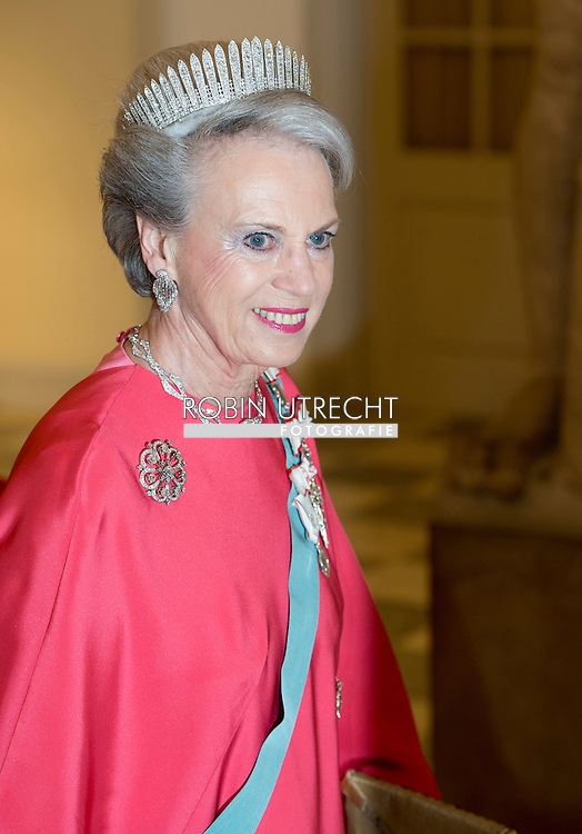 15-4-2015 - COPENHAGEN - benedicte princess at the Christiansborg Palace for a diner  , attent the 75 th Birthday celebration of of Queen Margrethe II . COPYRIGHT ROBIN UTRECHT