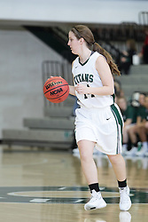 12 December 2015: Shelby Gray during an NCAA women's basketball game between the Wisconsin Stevens Point Pointers and the Illinois Wesleyan Titans in Shirk Center, Bloomington IL