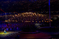 Torchbearer Margaret Maughan (winner of a gold medal at Rome 1960) lights the Cauldron at Opening ceremony during Day 1 of Summer Paralympic Games London 2012 on August 29, 2012, in Olympic stadium, London, Great Britain. (Photo by Vid Ponikvar / Sportida.com)