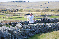 A weekend of glorious weather welcomed approximately 150 people from all over the country and abroad to Inis Mor , Arann Islands to participate in the annual Aer Arann half marathon.  Over the past ten years people have walked and ran the roads of Inis Mor to raise in excess of 1.2 million to purchase vital life saving equipment for sick children in both Crumlin and Temple Street hospitals.   Liam O Cualain from Connemara took part despite not having trained! . Photo:Andrew Downes.