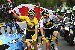 July 29, 2018 - Paris Champs-Elysees, France - PARIS CHAMPS-ELYSEES, FRANCE - JULY 29 : THOMAS Geraint (GBR) of Team SKY, ROWE Luke (GBR) of Team SKY during stage 21 of the 105th edition of the 2018 Tour de France cycling race, a stage of 116 kms between Houilles and Paris Champs-Elysees on July 29, 2018 in Paris Champs-Elysees, France, 29/07/18 (Credit Image: © Panoramic via ZUMA Press)