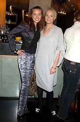 Left to right, NOELE RENO and KALITA AL-SWAIDI  at the 1st Baglioni Hotel's Designer Lunch featuring designs by Amanda Wakelel held at The Baglioni Hotel, 60 Hyde Park gate, London on 1st February 2006.<br />