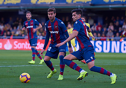 November 4, 2018 - Villarreal, U.S. - VILLARREAL, SPAIN - NOVEMBER 04: Postigo and Jose Campa–a, of Levante UD looks during the La Liga match between Villarreal CF and Levante UD on November 04, 2018, at Estadio de la Ceramica in Villarreal, Spain. (Photo by Carlos Sanchez Martinez/Icon Sportswire) (Credit Image: © Carlos Sanchez Martinez/Icon SMI via ZUMA Press)