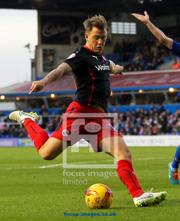 Simon Cox of Reading shapes up to shoot during the Sky Bet Championship match at St Andrews, Birmingham<br /> Picture by Tom Smith/Focus Images Ltd 07545141164<br /> 13/12/2014
