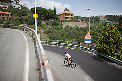 Karol-Ann Canuel (CAN) of Boels-Dolmans Cycling Team speeds out of a corner during the Giro Rosa 2016 - Stage 7. A 21.9 km individual time trial from Albisola to Varazze, Italy on July 8th 2016.