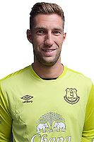 HALEWOOD, ENGLAND - JULY 1: (EXCLUSIVE COVERAGE) Maarten Stekelenburg poses for a photo after signing for Everton FC at Finch Farm on July 1, 2016 in Halewood, England.  (Photo by Tony McArdle/Everton FC via Getty Images)