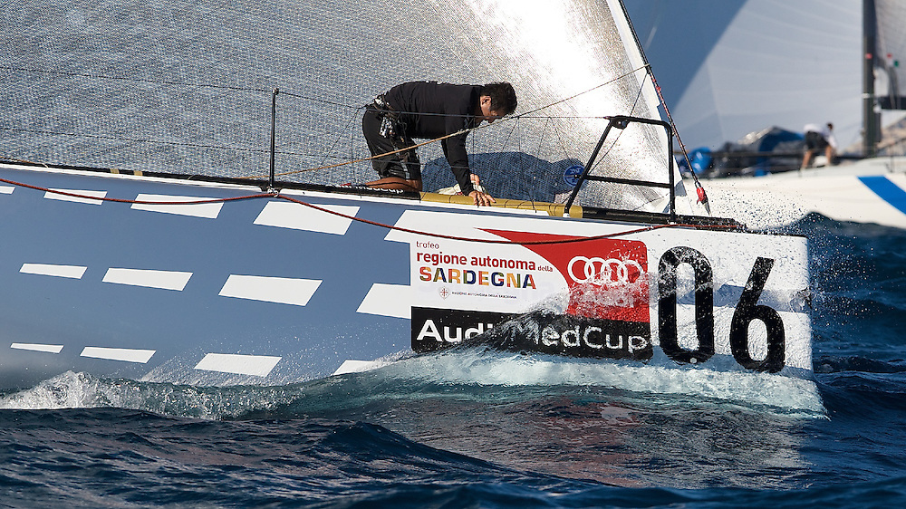 ITALY, Sardinia, Cagliari, AUDI MedCup, 21st July 2009,  Autonomous Region of Sardinia Trophy, Race 3, Audi TP52 Powered by Q8.