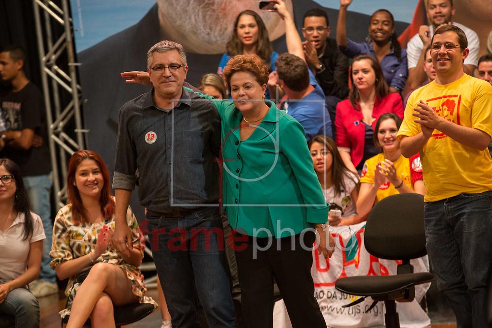 SÃO PAULO  - 11/08/2014 - Alexandre Padilha durante evento com Dilma Rousseff. Eles falaram para estudantes universitários e representantes do movimento estudantil, na Uninove no bairro da Barra Funda. Foto: Juliana Knobel/Frame