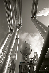 Chemical Plant Silver Pipes